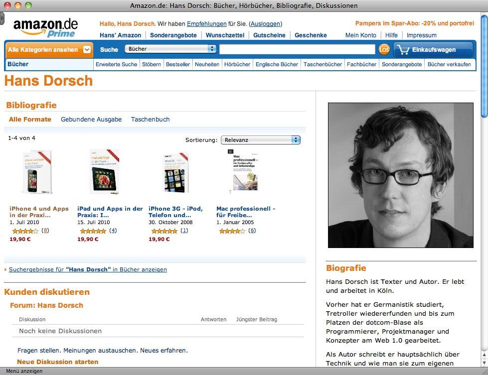 Hans Dorschs Bücher bei Amazon.de