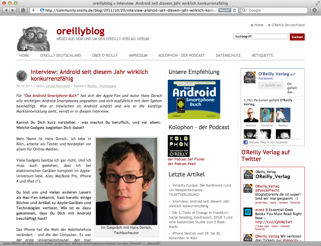 Interview im oreillyblog